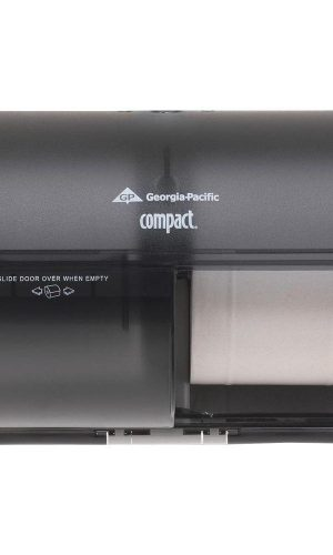Georgia-Pacific Compact 56784 Translucent Smoke Side-By-Side Double Roll Bathroom Tissue Dispenser