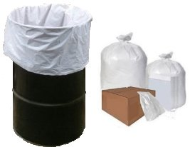 30x36 Trash Can Liner White Heavy